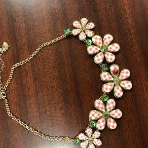 Betsey Johnson flower necklace